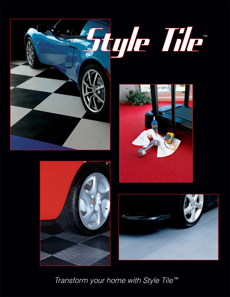 Style Tile Interlocking Floor Tiles Are Available In A Tire Tread Pattern Coin And Drain With